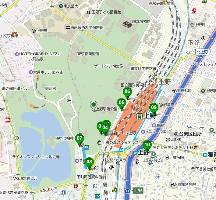 上野恩賜公園駐車場